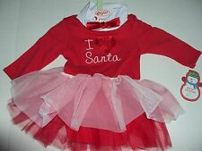 Baby Gear My First Christmas Santa Bodysuit with Tutu 6-9 Months I Love Santa