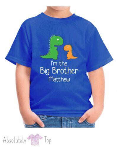 PERSONALISED DINOSAUR IM THE BIG BROTHER BOYS T SHIRT CHILDRENS TSHIRT KIDS TOP