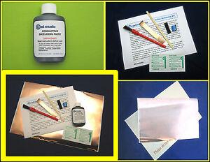Kit-de-protection-de-guitare-conductive-graphite-peinture-de-feuillard-de-cuivre-bouclier-pickguard