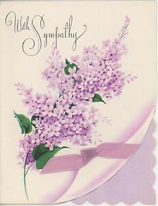 VINTAGE-PURPLE-LILAC-FLOWER-BOTANICAL-VINTAGE-SYMPATHY-LITHOGRAPH-CARD-PRINT