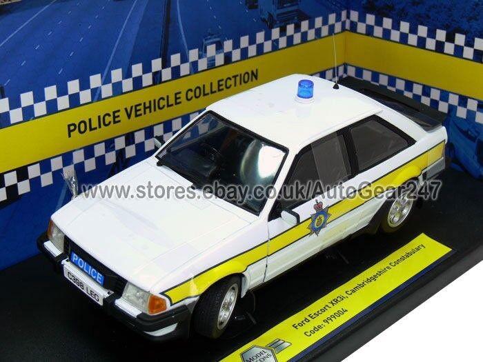 Ltd édition Ford Escort XR3i Police Cambridgeshire éclaté 1 18 modèle de voiture