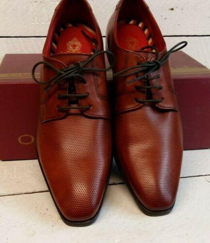 Homme Base London Charles Tan En Cuir À Lacets Chaussures