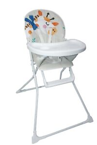 Details about Baby Portable Giraffe High Chair With Feeding Tray PaddedSeat Foldable Highchair