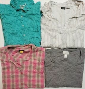 Lot-of-4-Tops-Blouses-Button-Ups-Shirts-Women-039-s-Size-XXL-2XL