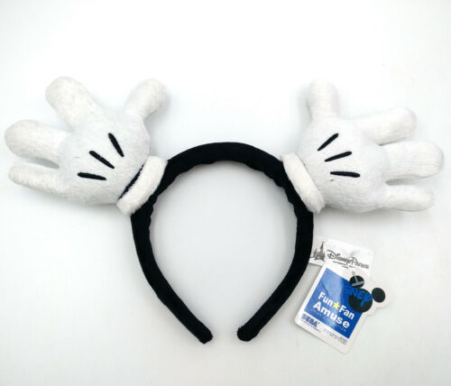 Disney Park Resort Minnie Ears White Bow Mickey Mouse Hand Gifts Cos Headband