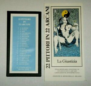 22-Pittori-In-22-Arcani-Tarot-Meneghello-OOP-Ltd-Numbered-22-Card-Deck-MINT