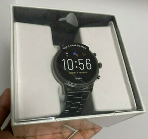 Fossil Gen 5 Carlyle Stainless Steel Smoke Smartwatch FTW4024 44mm BRAND NEW