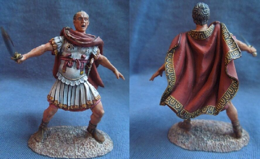 Tin toy soldiers ELITE painted 54 mm  Caius Julius Caesar at the Battle of Munda