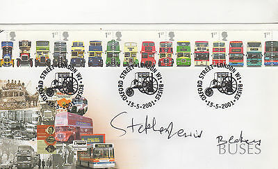 "ON THE BUSES personally signed FDC - STEPHEN LEWIS - BLAKEY "" I hate you Butler"""