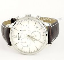 Tissot T0636171603700 Tradition Quartz Chronograph Silver Dial Men's Watch - New