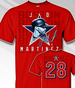 Boston-Red-Sox-JD-MARTINEZ-41-MLBPA-Star-Power-Youth-Boys-Cotton-Tee-Shirt-Red