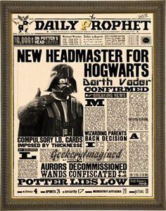 Darth-Vader-Harry-Potter-mash-up-art-print-on-premium-parchment-8x10