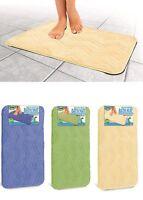 Non-slip Microfiber Bath Mat Super Absorbent Rug Soft Carpet 3 Colors 24 X 16