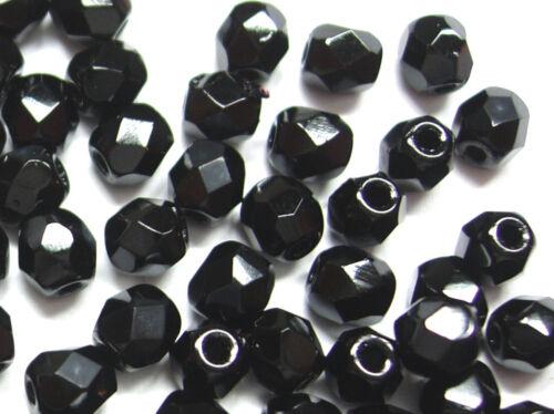 noir; * 1198 100 x Séquoia perles de verre 4 mm rodé Perles