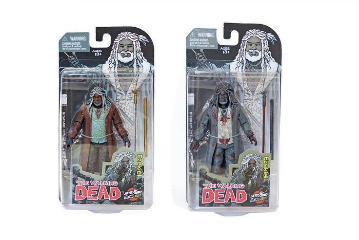WALKING DEAD EZEKIEL SET OF 2 FULL COLOR AND AND AND B&W SDCC EXCLUSIVE COMIC CON 2014 5b4135