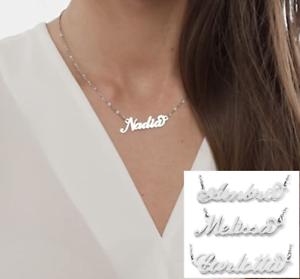 Collana con Nome da Donna in Acciaio Inossidabile Visto su Instagram Influencer