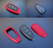 Für Ford Schlüssel Hülle Cover Power Key Free Keyless Go Funk Fernbedienung Rot