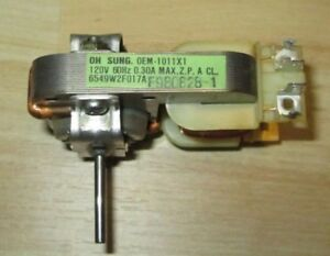 Details About Oh Sung Oem 1011x1 Microwave Oven Fan Motor Tested Clean Free Blade