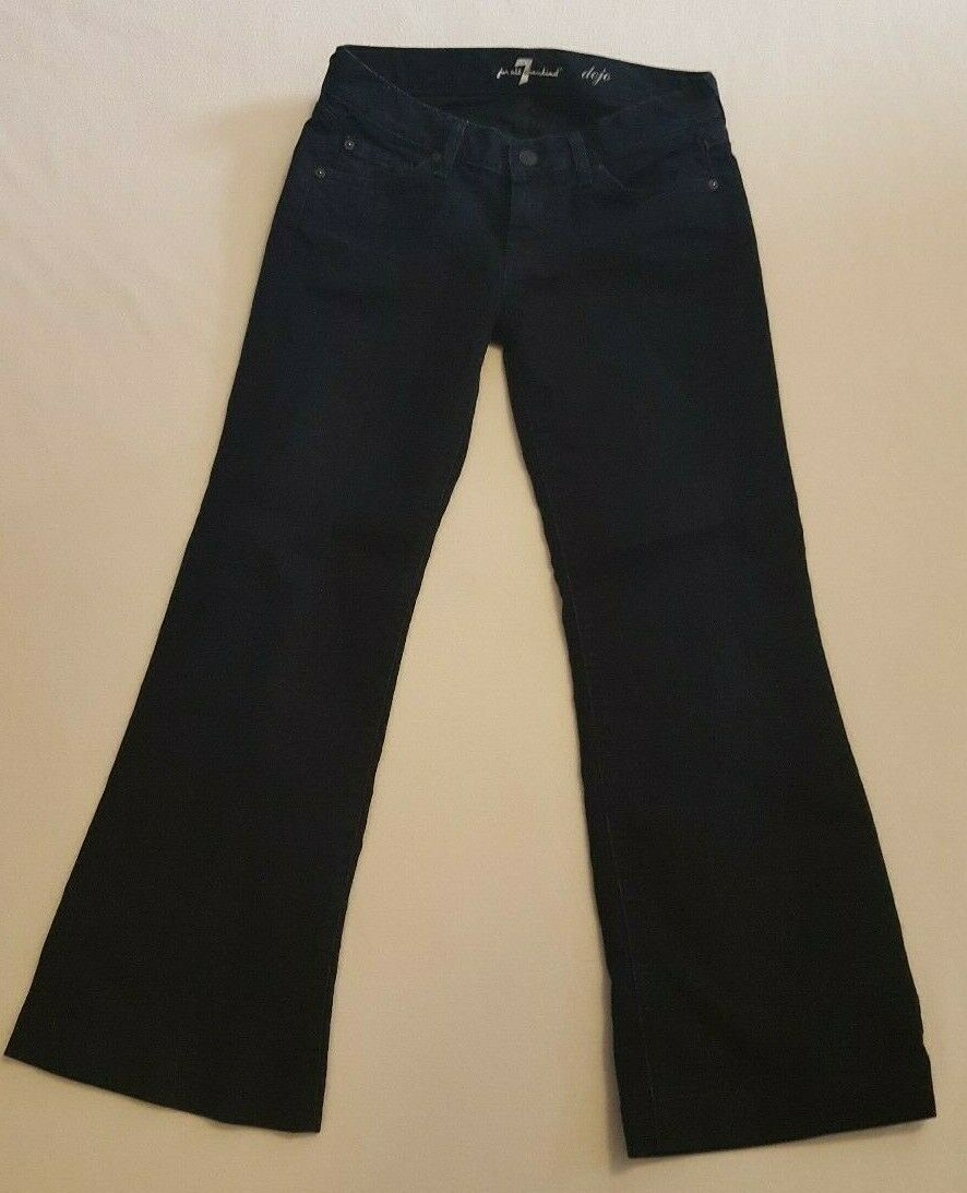 7 For all Mankind Dojo Jeans 26 Trousers Denim Pants Womens  Flare 7FAM
