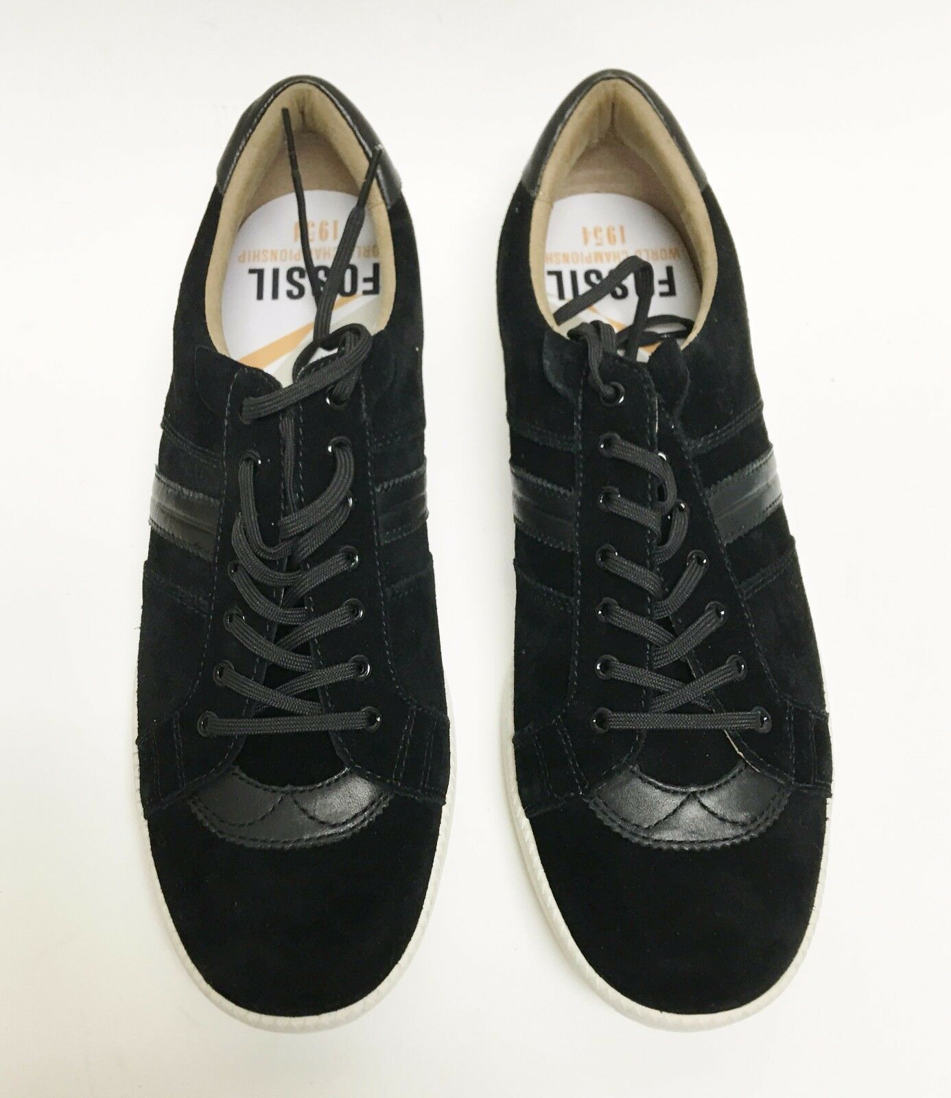 FOSSIL MAZZA SUEDE,LEATHER BLACK SNEAKERS TENNIS MEN'S SHOES~SIZE 11