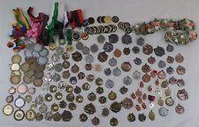 Sports Medals,Awards,Pins,Ribbons,Baseball,Football,Gymnastics,Tennis,Lot of 152