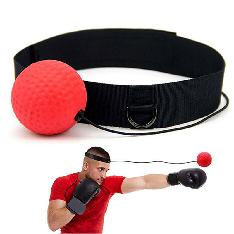 Boxing Punch Exercise Fight Head Band Gym Reflex Ball Speed Box Training NEW