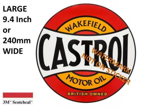 NEW VINTAGE CASTROL OIL GASOLINE  DECAL STICKER LARGE 9.4 inch or 240mm USA