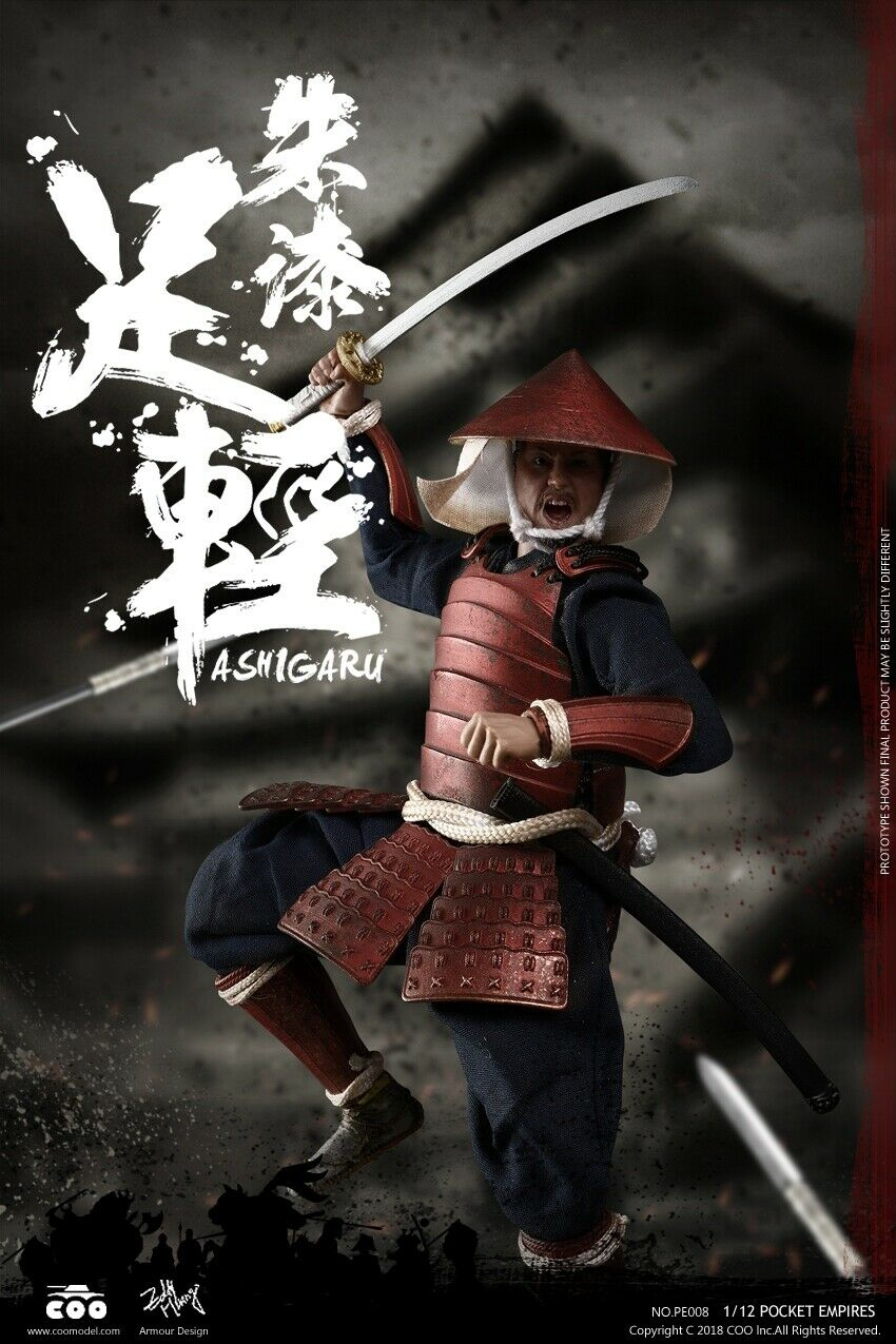 1 12 COOMODEL  COO 6 in (environ 15.24 cm) Action Figure Palm Empires Rouge Armor Ashigaru PE008  À ne pas manquer!