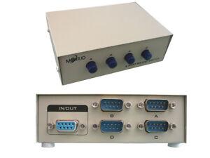 Caja-de-Compartida-Interruptor-Serie-RS232-DB9-4-Puertos