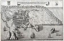 AZOREN TERCEIRA - Ansicht der Insel Kupferstich von Merian um 1650 Original!