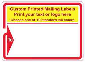 5000 custom shipping labels printed mailing stickers 1 color 4 x