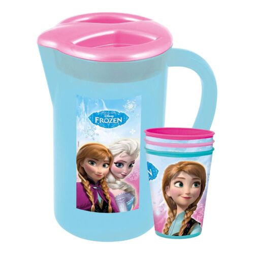 Frozen Disney Character Picnic Pitcher Jug with 3 Tumbler Cups