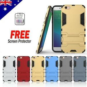 pretty nice 27f19 e45d6 Details about For Oppo R9S Heavy Duty Tough Armor Hybrid Shockproof Case  Cover + Screen Guard