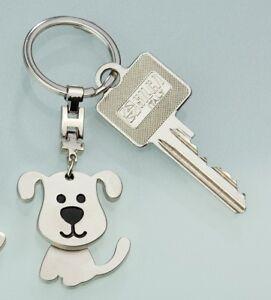 Gilde Schlüsselanhän<wbr/>ger Hund Engel Metall silber 50943 Geschenk Anhänger Tier