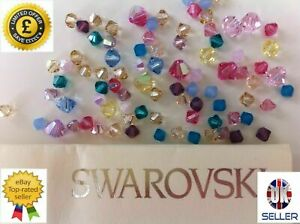 Genuine-SWAROVSKI-5328-Bicone-Crystal-Beads-Many-Sizes-amp-Colours-with-Effects