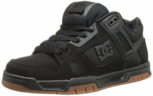 DC Men's Stag Sneaker Black/gum 10 D US