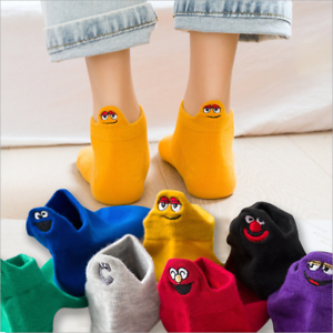 Cartoon-Embroidered-Expression-Women-Cotton-Socks-Fashion-Cute-Ankle-Funny-Socks