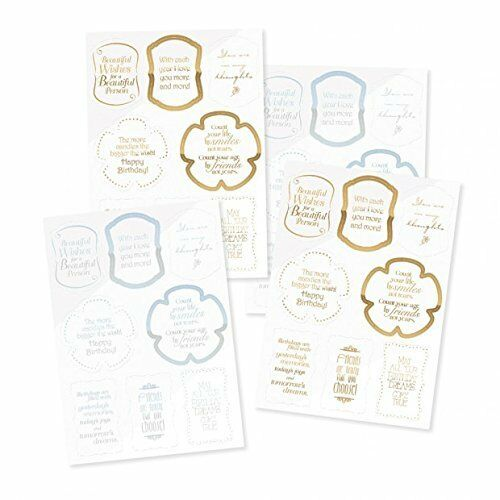 A4 Tonic Loving Birthday 32 toppers pack Gold and Silver  Cards and Crafts