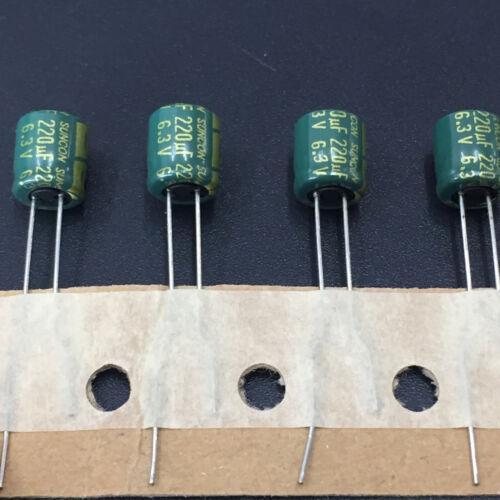 SAX Low Impedance  Capacitor SANYO 10pcs 220uF 6.3V220uf 6.3X7mm SUNCON