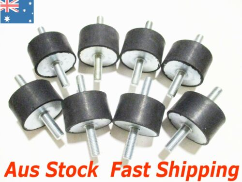 8pcs M10 Rubber Anti Vibration Mounts Bobbin Isolator Generator Pump Compressor