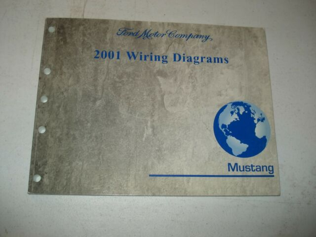 2001 Ford Mustang Wiring Diagrams Service Manual Shop Book