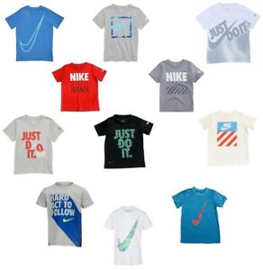 New-Nike-Toddler-Boy-039-s-Short-Sleeve-Graphic-T-Shirt-SIZE-2T-3-4-5-6-7-MSRP-18