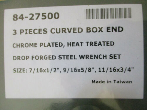 """HARLEY ENGINE HEAD /& BASE CURVED BOX END WRENCH SET 7//16-1//2 9//16-5//8 11//16 3//4/"""""""
