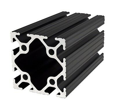 "80//20 Inc 10 Series 2"" x 2/"" Aluminum Extrusion Part #2020-BLACK x 16/"" Long N"