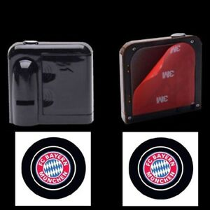 2x Wireless Led Auto Tur Licht Laser Projektions Emblem Fussball Club