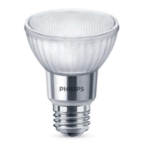 50w Equiv. Philips 7w PAR20 LED 3000K Dimmable Flood Bulb 6PK