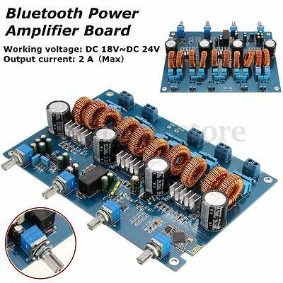 TPA3116 4.1 Class D Amp With Bluetooth Power Stereo Amplifier Board 4x50W+100W