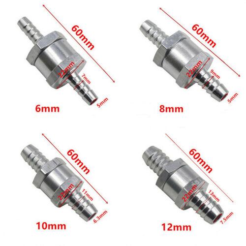 Benzin-Diesel-Kraftstoffpumpe Einweg-Rückschlagventil 6//8//10 12mm Auto Boot