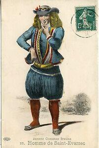 Carte De Costumes Saint Anciens Bretons Postale Homme EvarzecEbay thrCxBQods
