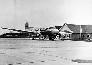 Large-Postcard-SAS-Saab-90-Scandia-Jarl-Viking-at-Aalborg-Airport-Denmark-91A